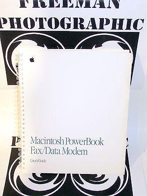 Apple Macintosh Powerbook Fax Modem Manual Vintage Rare Mac Power Book 170 140