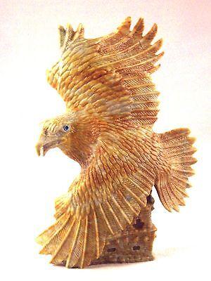 Travis Lasiloo-Large Eagle w/ Pueblo-Zuni Fetish-Native American-Stone Carving