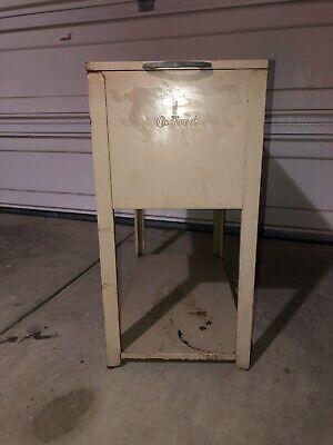 Vintage Industrial Metal Oxford Filing Cabinet 24x13x26.5