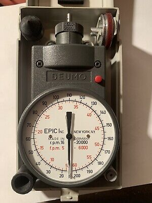 Deumo Mechanical Hand Tachometer Rarely Used Mint Condition