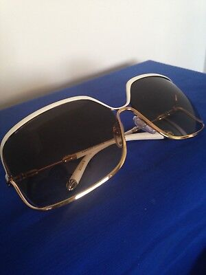 $1200 FISH EYE Chrome Hearts White & Gold Sunglasses (Fish Eye Sunglasses)