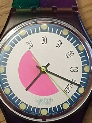VINTAGE SWATCH AG 1986 Watch - Boxed & Papers