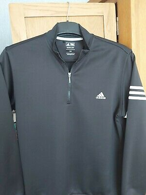 Mens Adidas Golf 1/4 Zip Training Top Jumper Sweater Size Medium Excellent