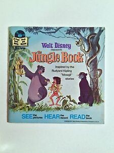VINTAGE 1977 THE JUNGLE BOOK READ-ALONG BOOK/RECORD
