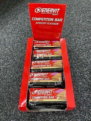Enervit Competition Energy Bar - Apricot Flavour - Sports Nutrition - Box of 25