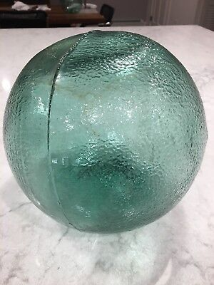"""Vintage Large 30"""" Hand Blown Japanese Glass Fishing Float Buoy Mottled Surface, used for sale  Shipping to Canada"""