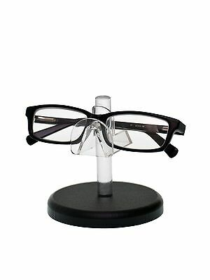 Sunglasses Eyeglasses Display Stand With Black Base Glasses Nose Clear Acrylic