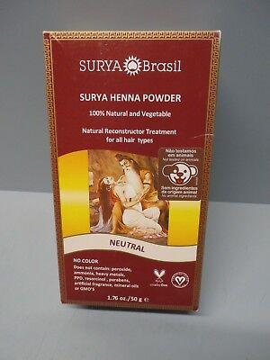 2pack Surya Brasil Henna Powder Neutral 1.76 Ounces, Brazil Hair Color Treatment Surya Henna Powder