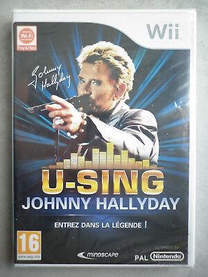 Johnny Hallyday U-Sing Jeu Vidéo Nintendo Wii