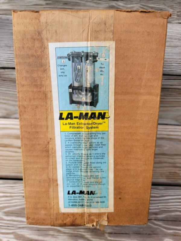 LA-MAN 50 SCFM Extractor Dryer Filtration System w/ Automatic Float Drain~New