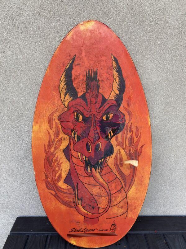 Slick Lizard Skim Pro  Skim Board Wood Dragon (Used Condition)
