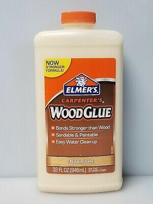 Elmers E7040 1 Quart Carpenters Interior Sandable Paintable Wood Glue New