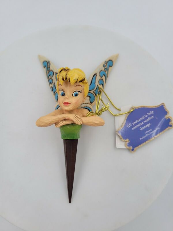 Enesco Jim Shore Traditions Disney Showcase Collection TINKER BELL Planter Stake