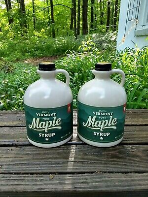 2 Half Gallons Of Pure Vermont Maple Syrup Grade Fancy Golden Delicate