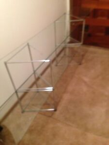 Two Tiered Glass Shelf