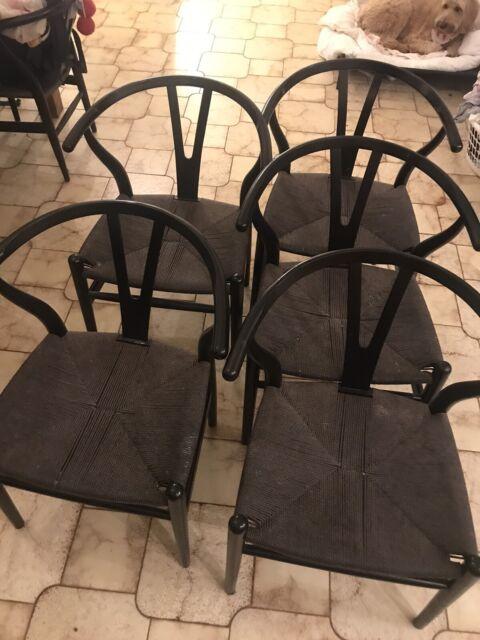 Wishbone chairs black x 10 | Dining Chairs | Gumtree ...