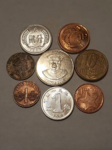 8 Foreign Coins - $3.00