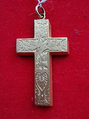 Cross Pendant Silver Vermeil God Be with You Darling Sydney 1900 - REF00002004