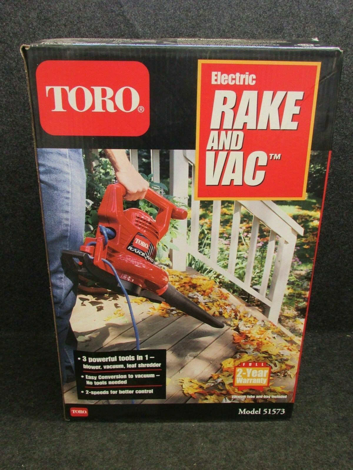 Toro Rake Vac 10 Amp Electric Er Vacuum 51573