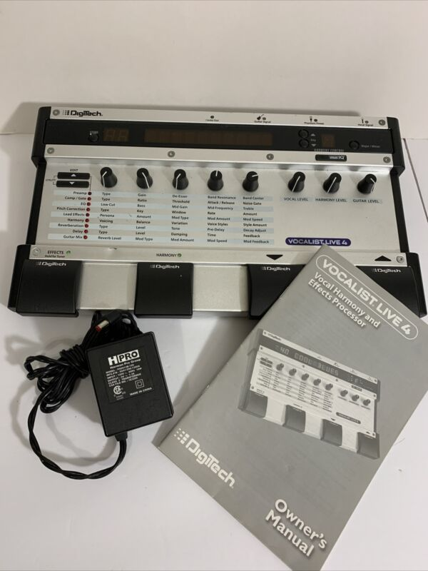 Digitech Vocalist Live 4 Vocal Harmony & Effects Processor & Owner Manual &adapt