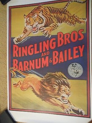Ringling Bros & Barnum & Bailey Combined Shows poster lion & tiger