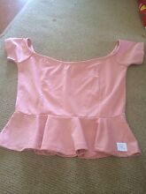 Pink Mini Peplum Shirt Coomera Gold Coast North Preview
