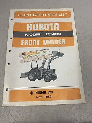 Kubota Front Loader Bf400 Illustrated Parts List Manual Catalog