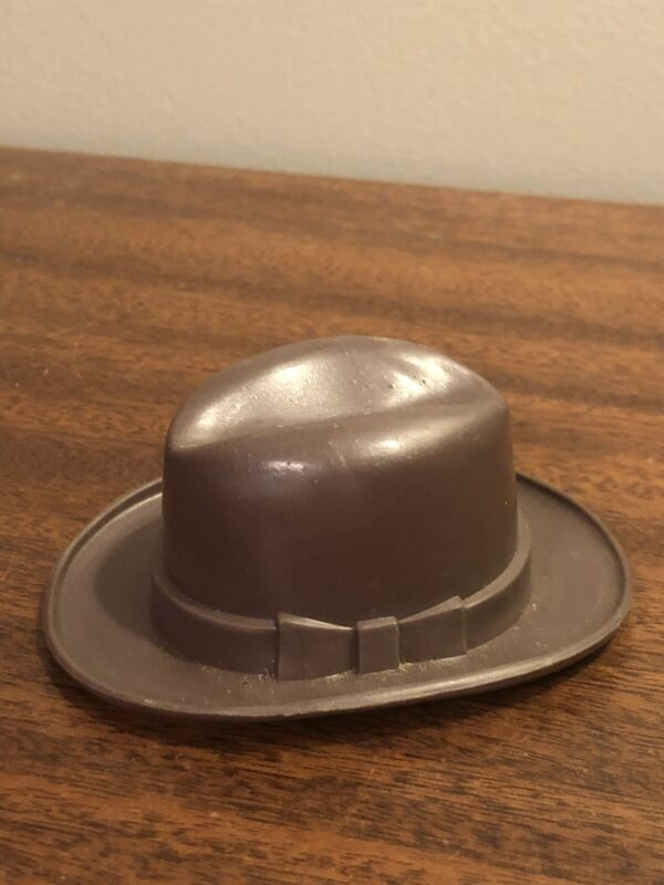 "VINTAGE DOBBS MINI 4"" ADVERTISING DERBY HAT 🎩 MARKED INSIDE PROMO COOL RARE 👀"