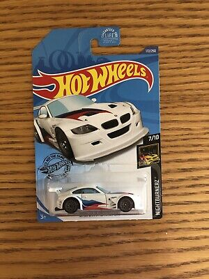 BMW Z4 M Motorsport #172 White Nightburnerz 7/10 2020 Hot Wheels Case K