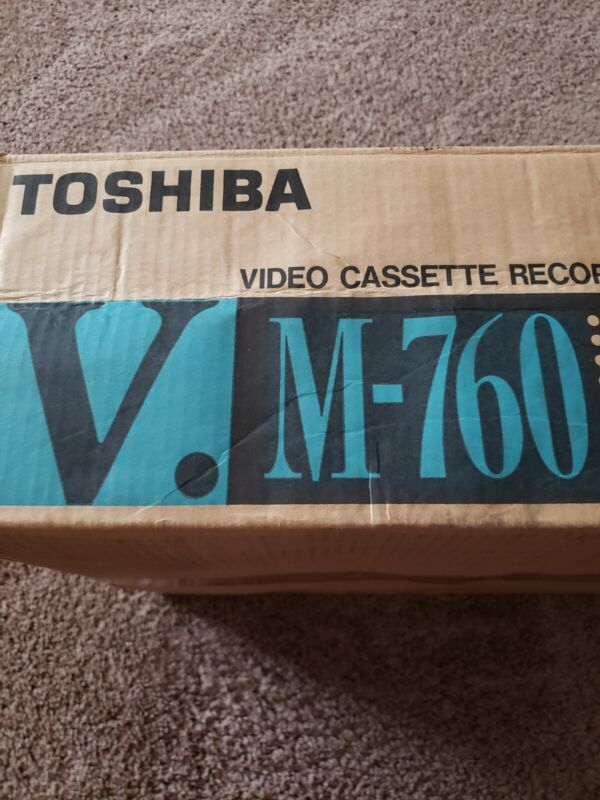 VINTAGE M-760 TOSHIBA VCR IN BOX WITH REMOTE+STYROFOAM GREAT CONDITION MUST LOOK