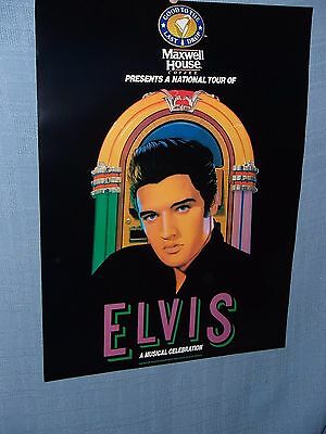 ELVIS PRESLEY--Maxwell House Coffee Advertising Poster, Brand New