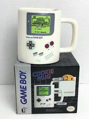 Nintendo Gameboy Ceramic Mug With Cookie Holder Game Boy Novelty Cup Gamers Gift ()
