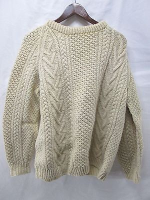 HEBRIDEAN HAND KNIT IN SCOTLAND HEAVY WOOL FISHERMEN'S  SWEATER