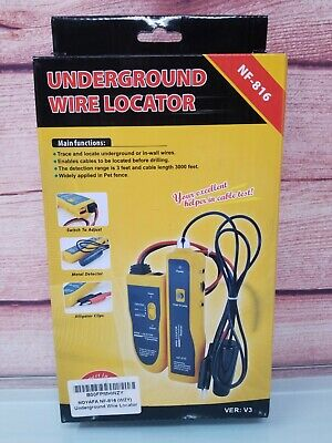 Noyafa Nf-816-c Underground Cable Wire Locator Locate Pet Fence Wires