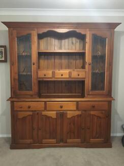 Solid Timber Buffet and Display Cabinet Hutch