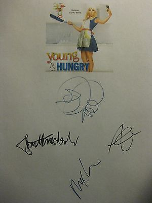 Young & Hungry Signed TV Script Emily Osment Jonathan Sadowski Aimee Carrero rpt