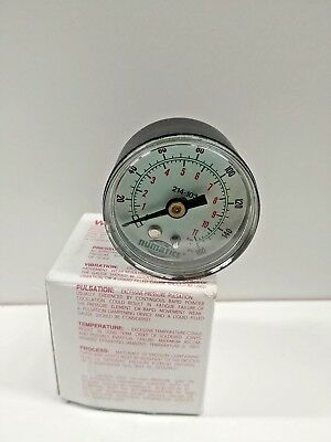 New Old Stock Numatics 0-160 Psi Pressure Gauge 18 Mnpt 214-103