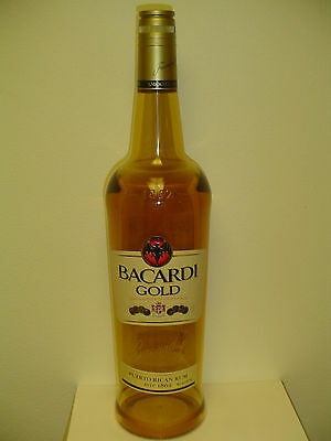 Bacardi Gold 6 liter acrylic display bottle - New