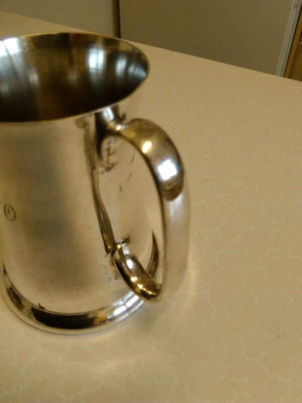 Antique James Dixon & Sons Silver Plated 1/2 pt Tankard (1521)