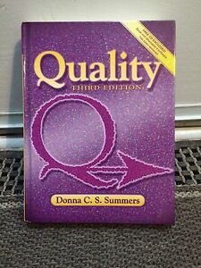 Quality (3rd) Donna C. S. Summers textbook