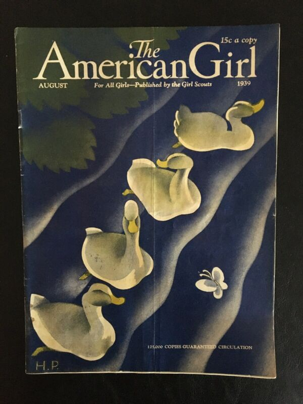RARE Vintage American Girl Teen Magazine 82 YEARS OLD ISSUE AUGUST 1939