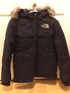 Mens small north face waterproof down jacket