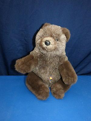 7420. Schöner Teddy  -  Bär  -  braun  -  sitzend  -  Clemens  -  33 cm