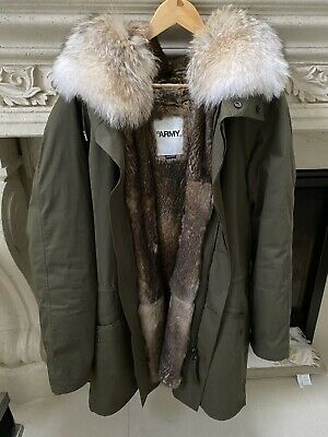 Yves Salomon Fur Parka Size 54 BEST PRICE on EBAY!