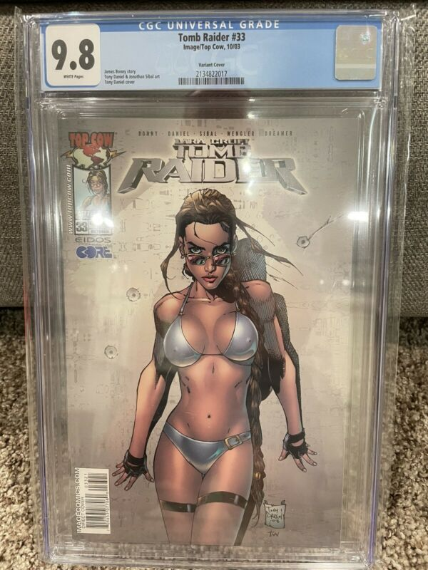 Tomb Raider #33 2003 CGC Graded 9.8 Tony Daniel Swimwuit Variant Cover FREE SHIP