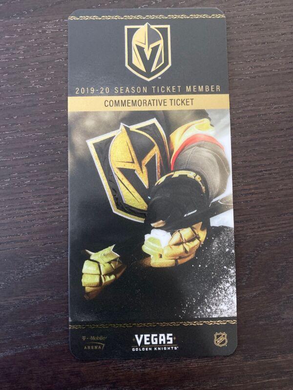 Vegas Golden Knights Commerative Ticket