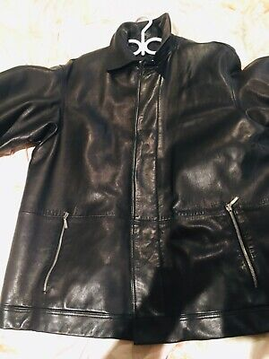 Versace men's leather jacket