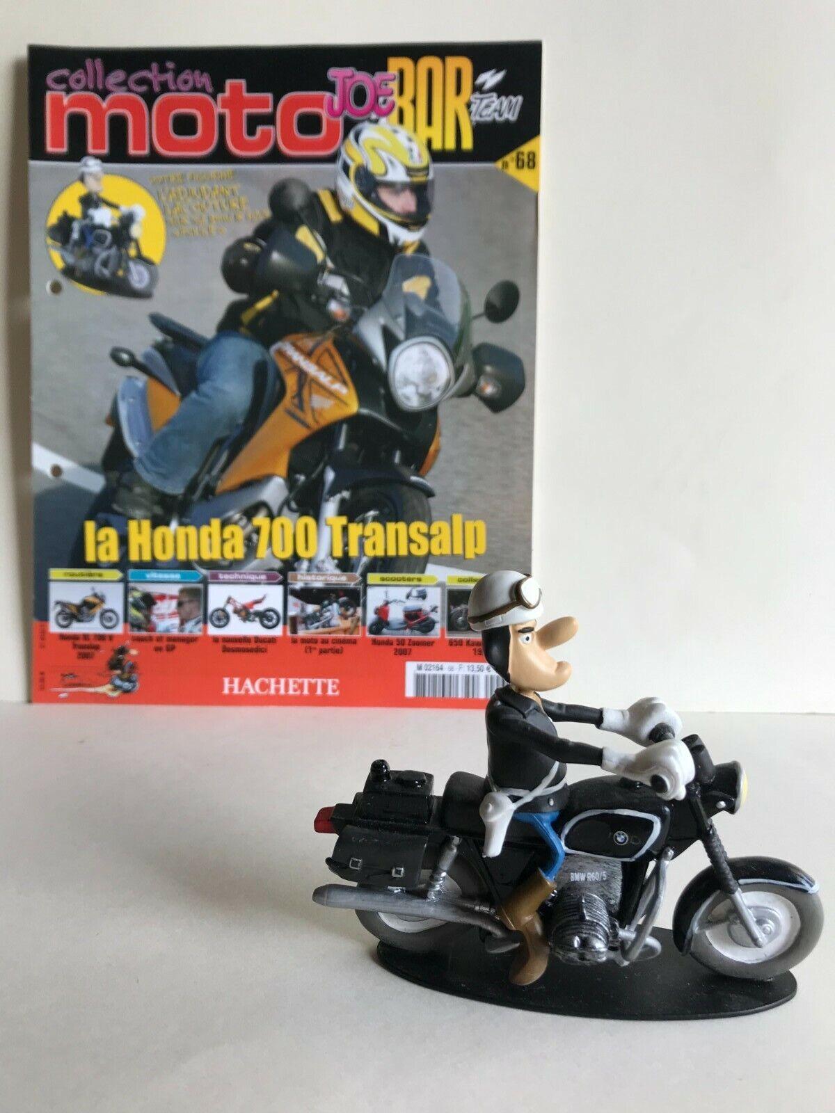 Figurine joe bar team & livret moto bmw r 60/s