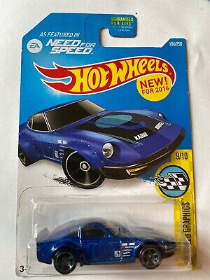 HOT WHEELS 2016 HW SPEED GRAPHICS NISSAN FAIRLADY Z BLUE  New unopened