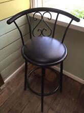 Black high back bar stool Carnegie Glen Eira Area Preview